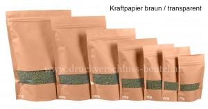 Kraftpapier braun / transparent